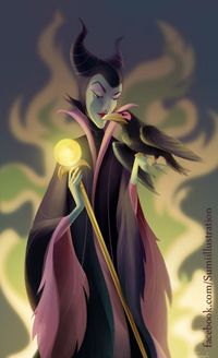 Maleficent and Diablo by ~Blumina on deviantART