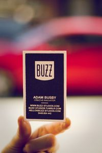 Buzz Studios Business Cards