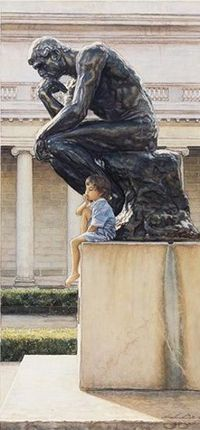 """The Thinkers"" by Steve Hanks (1949, American)"