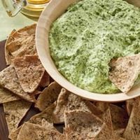Creamy Spinach Dip Try this light spinach dip made healthier with reduced-fat cream cheese, nonfat yogurt and low-fat cottage cheese instead of full-fat cheese, mayonnaise and sour cream. It will save you a whopping 84 calories and 10 grams of fat per ser...