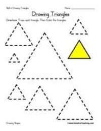 preschool triangle worksheet number preschool best free printable worksheets. Black Bedroom Furniture Sets. Home Design Ideas