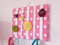 Accessory Holder. Canvas covered with fabric.