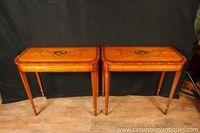 Two Sheraton Painted Console Tables Hall Table Regency Musical Instruments