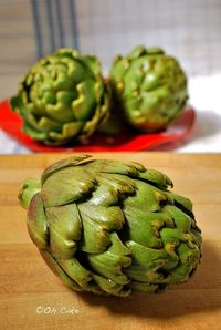 Oh Cake: Steamed Artichokes - Preparation Technique