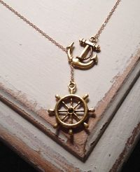 anchor and steering wheel necklace