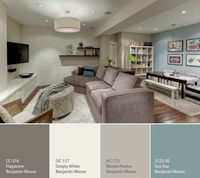 this is what I want to use for the cabin Benjamin Moore grey and blue paint colors -My favorite colors! Now I don't have to spend forever looking at paint chips!