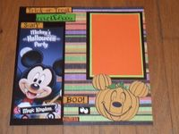 Mickeys Halloween Party Scrapbook page by donna7022 on Etsy, $6.00