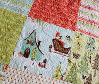 large table topper quilt made with alpine wonderland