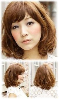 This bob shoulder medium length hairstyle seems a bit low profile but it gives a little bit more points in romantic and cuteness. Natural curly hair tail and fluffy feel is the main focus in this hairstyle. You can have the side bang like show in picture ...