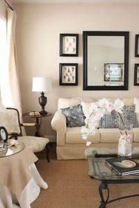 neutral with blue and white
