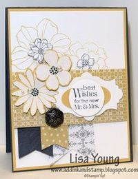 Add Ink and Stamp: Secret Garden Wedding Card