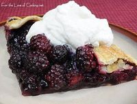 For the Love of Cooking » Blackberry Galette with Homemade Vanilla Whipped Cream: