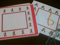 Alphabet Work-mat by Carl's Corner-Alphabet Avenue (The kids use Wikki Sticks to make the letters or Play-Doh)