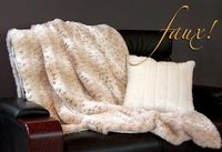 Faux Fur throw and Pillow tutorial from sew4home