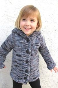 Knitting Pure and Simple Baby & Children Patterns - 126 - Children's Bulky Top Down Coat Pattern