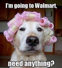 I'm going to Walmart�€�need anything?