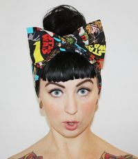 #StarWars head scarf with bow. #GeekChic
