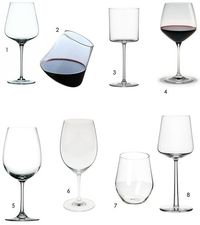 some wine glasses explained