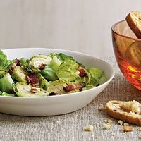 Brussels Sprouts Salad with Warm Bacon Vinaigrette | CookingLight.com
