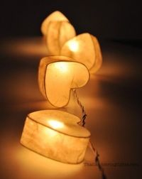 string of heart lights... ' All the beautiful