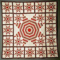 Quilt, Star of Bethlehem pattern variation Date: ca. 1845