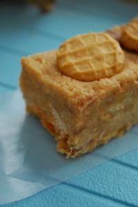 NoBake Nutter Butter Butterfinger Bars one of my fav cookies and one of my fav candy bars!!! Need to try this for the kids
