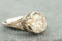 Estate 1920's 1.78 CT Old European Cut Diamond Solitaire
