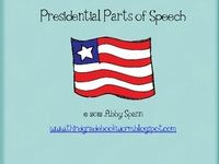 Presidential Parts of Speech freebies