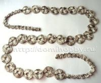 Crochet necklace/belt tutorial in a different language but good pics