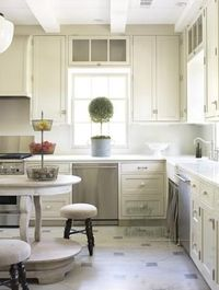 Cream Kitchen Cabinets - Cottage - kitchen - Emily Followill Photography