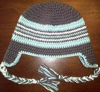 Adult Braided Ear Flap Hat