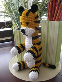Hobbes amigurumi- I need one of these!