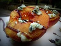 Grilled Balsamic Peaches With Blue Cheese - Mess Makes Food