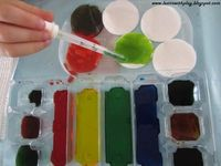 Fun with food coloring and eye droppers ... Learn with Play