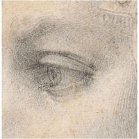 Michelangelo, eye taken from Ideal head of a woman sketch