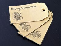 homemade vintage looking xmas tags