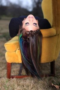 Color Hair with Oil Pastels. Set with Hairspray... trying this ASAP!