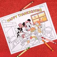 Thanksgiving Disney Coloring Page