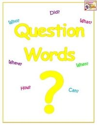 FREE! This is a poster of question words to help students to remember that a question sentence always starts with a question word and ends with a question mark.