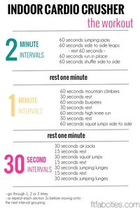 Printable Workout: Indoor Cardio Crusher...The Workout