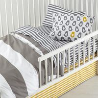 The Land of Nod | New School Toddler Bedding (Not a Peep) in New Kids Bedding