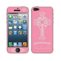 Fashion Chrome Hearts Pink Horseshoes & Cross iPhone5 Case