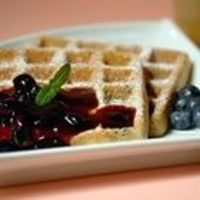 Blueberry Waffles with Fast Blueberry Sauce Recipe