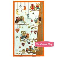Owl Wonderful Multi Growth Chart Quilt Panel SKU# 28622-428S