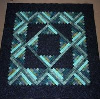 My batik log cabin quilt