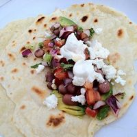 Homemade flour tortillas & pico (both whipped up by