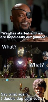 Funny The Avengers meme from www.MovieQuoter.com