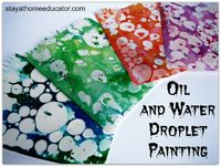 Love this Oil and Water Droplet Painting activity - and it makes great paper to use in other projects.