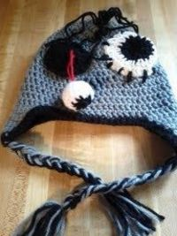 Kids zombie crochet hat. $20.00, via Etsy.