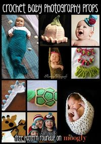 10 Great FREE patterns for Crochet Baby Photo Props!